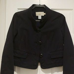J.Crew twill jacket, navy blue. Worn once.